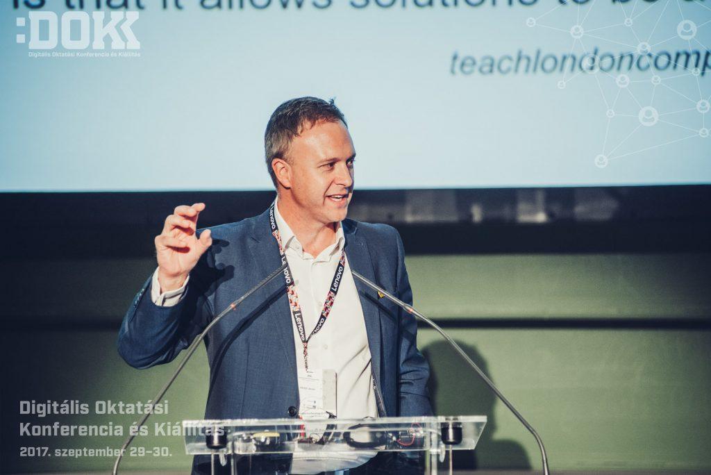 Gareth James, a Micro:bit Foundation oktatási és stratégiai vezetője